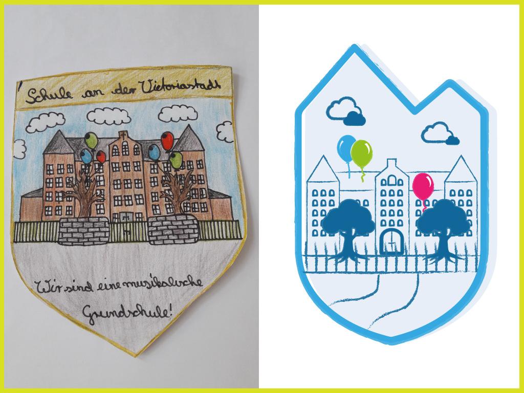 Neues Schullogo in Form eines Wappen